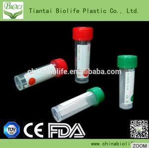 Disposable plastic blood collection tubes
