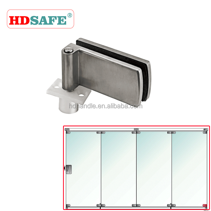 CE& ISO approved glass door fixed fitting sliding folding door fitting