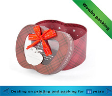 recycled decorative christmas apple-shaped paper gift box with clear lid