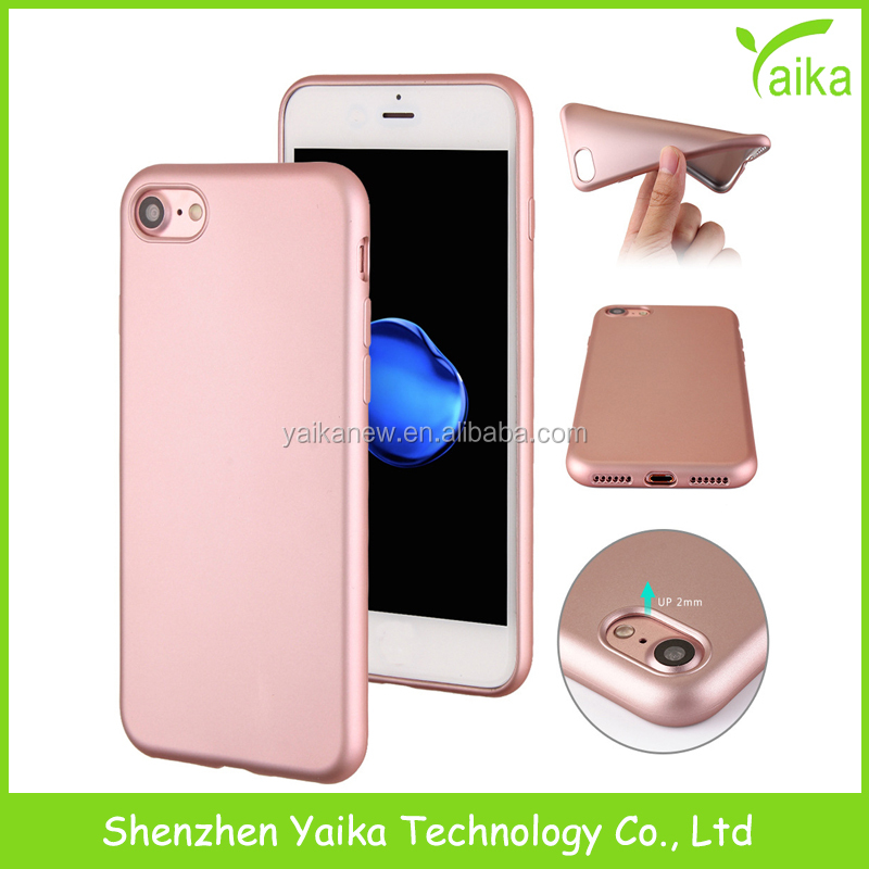 Yaika Popular Metallic Paint TPU Soft Phone Case Cover for iPhone 7/6/Plus