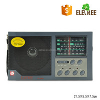 Black Color Loud FM/MW/SW Portable Radio With Clear Sound Speaker, Tone Control Switch EL-4500