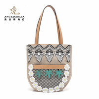 2017 new arrival high quality stylish no name women handbags ladies