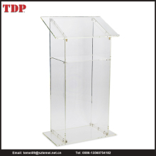 Factory Direct Wholesale Traditional Clear Acrylic Floor Podium Pulpit Lectern