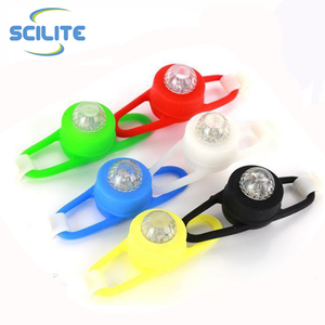 Bike accessories decorative led bicycle wheel light with colorful silicone bike light