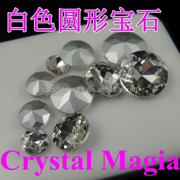 wholesale round shape pointed back crystal rhinestone