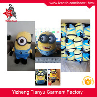 Cloth eyes plastic eyes factory direct sale soft minion despicable me plush minions soft toy