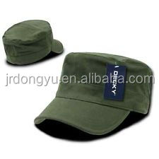 fashion good quality green promotional blank cotton cheap military hat