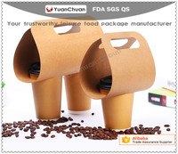 Corrugated disposable paper cup carrier coffee holder hot cup tray