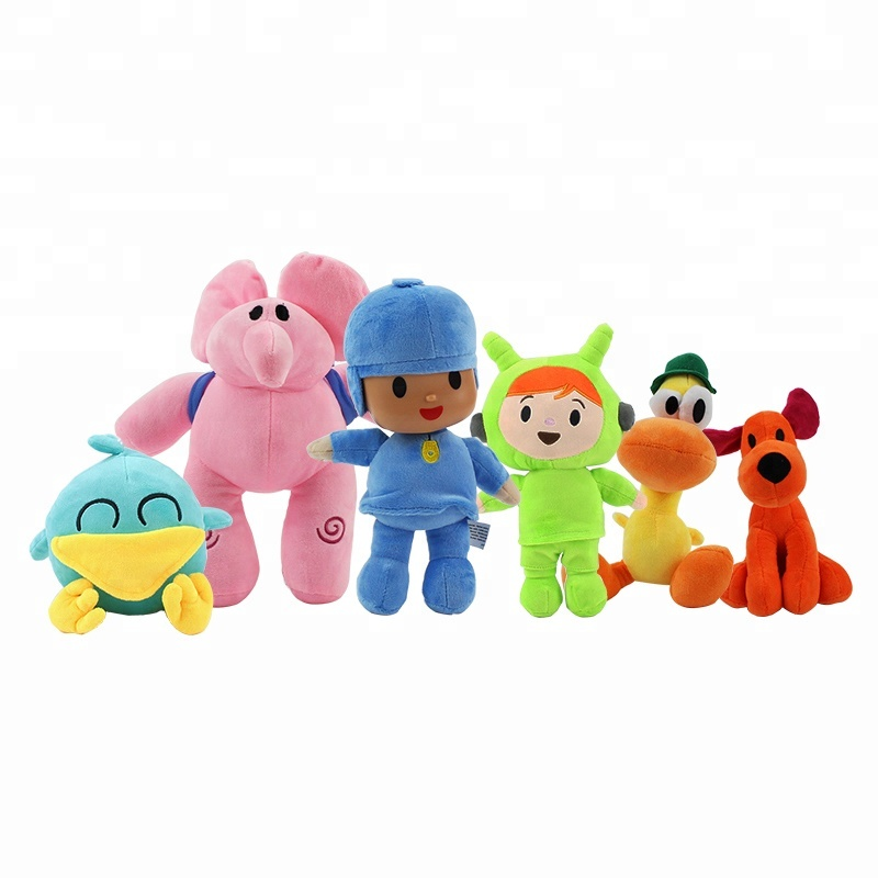 New High Quality Anime <strong>plush</strong> Pocoyo ELLY PATO Soft <strong>Plush</strong> Stuffed Figure Toys Dolls