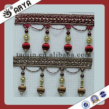 Decorative Beaded Trim for Curtain,Trimming of Curtain Accessories,Beaded Fringe Trim.