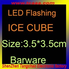 flashing colorful ice cube with led
