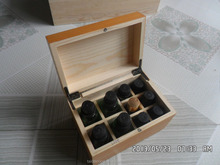 wooden olive oil box