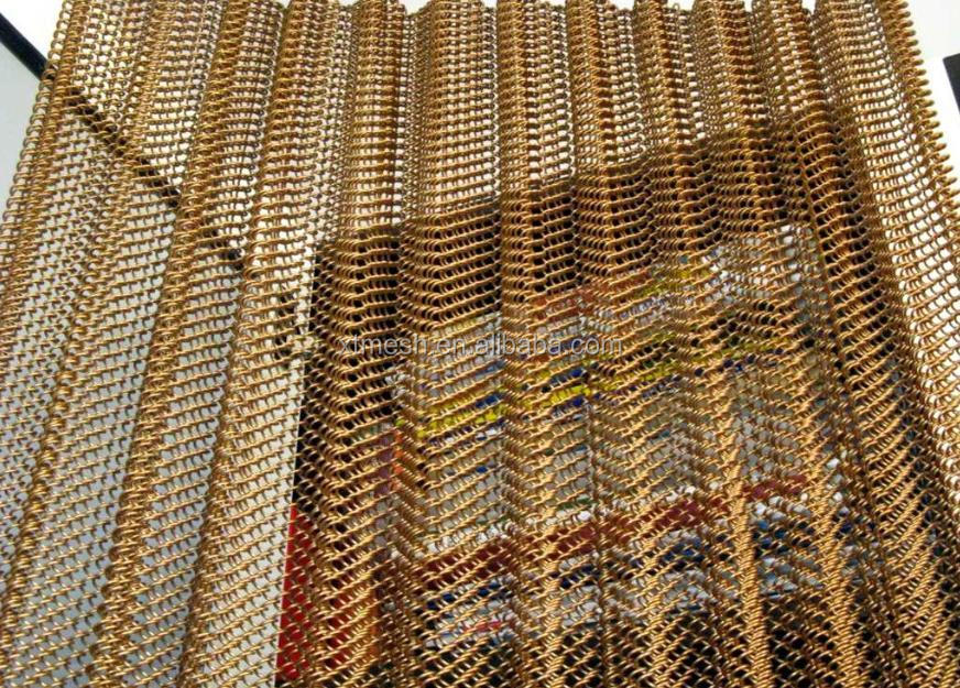 decorative metal screen mesh and decorative metal chain curtains