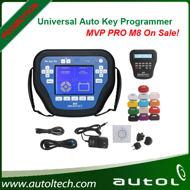 2015 best sale+Top mvp pro m8 key programmer The Key Pro M8 with 800 Tokens Best mvp pro key programmer Free Shipping By DHL