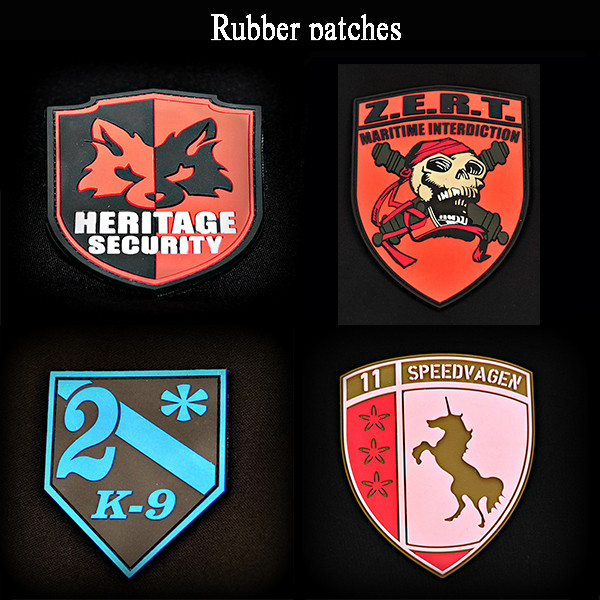 Custom rubber logo patches