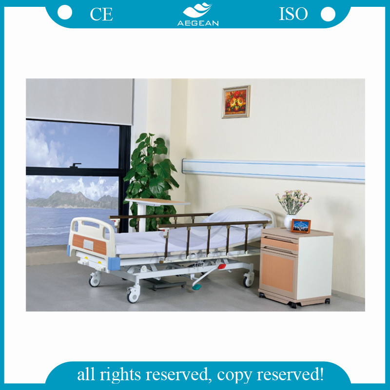 AG-BMY001 nursing home care folding hospital bed medical clinic furniture crank manual home care bed