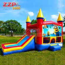 ZZPL Outdoor inflatable bounce house Attractive inflatable bouncy castle with slide Funny cartoon character inflatable bouncer
