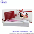 LCD Video Book for marketing card 7 inch Custom TFT Screen video greeting cards