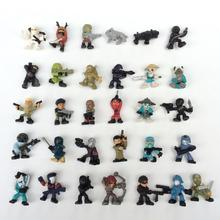 Hot selling cartoon mini toys soldiers action figure soft toy promotion gift for kids
