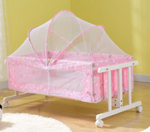 Simple travel taken car baby wooden swing cot,baby portable cradle with wheels