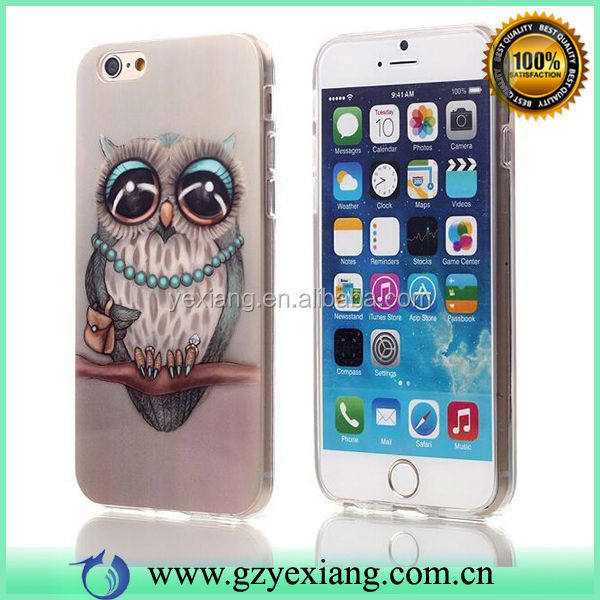 Case For Iphone 6 4.7 Inch ,TPU Cell Phone Skin Back Cover Case Owl Design