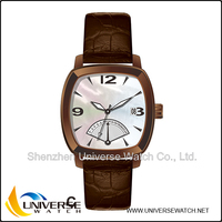 Water resistant retro wrist watch with MOP dial UN5090-6