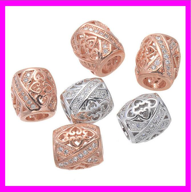 KDA947 Latest pave diamond beads jewelry finding