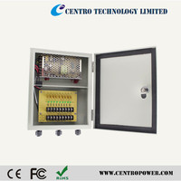 Best price!!! Waterproof CCTV DC Power Supply 12V 10A 9 Channel with UL listed