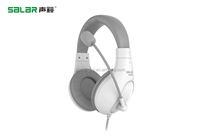 Top Selling A566N White 3.5mm PC Gaming Headset with Volume Control Microphone for PC Computer Remote