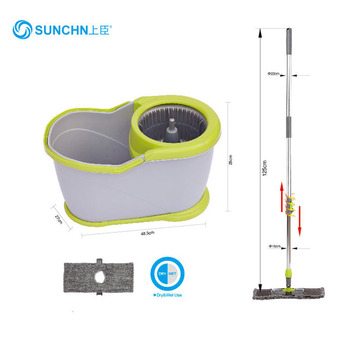 SUNCHN 360 Easy Use Flat Cleaning Microfiber Mop