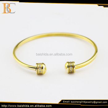 Wholesale china mini new models elastic gold plated charm bracelet for women