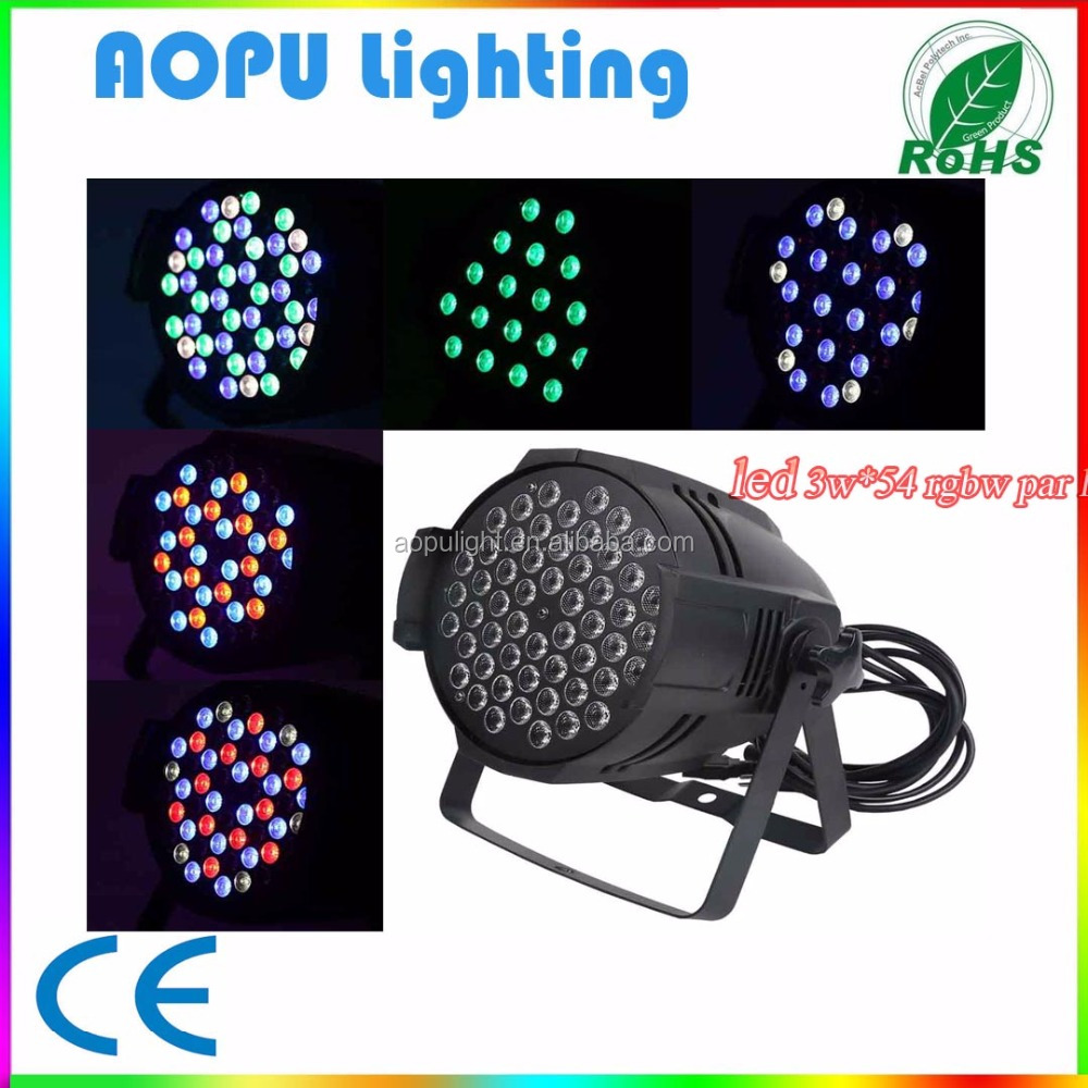 Lower Price Stage Light 54pcs 3w <strong>Led</strong> Par Stage Light Rgbw for sale