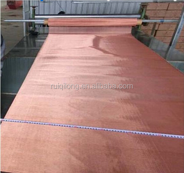 Anping factory electromagnetic protection fine copper <strong>mesh</strong> used in faraday cage