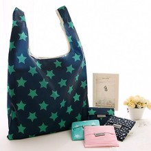 Custom pouch design sublimation printing polyester foldable shopping bag