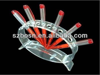 S Shaped Acrylic Pen holder Acrylic Pen Stand