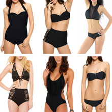 Good Quality All Black Summer Womens Swimwear Beachwear Bikini