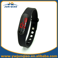 14 Colors Available Ultra Thin Sports Red LED Faceless Watch Silicone Rubber Wrist Watch