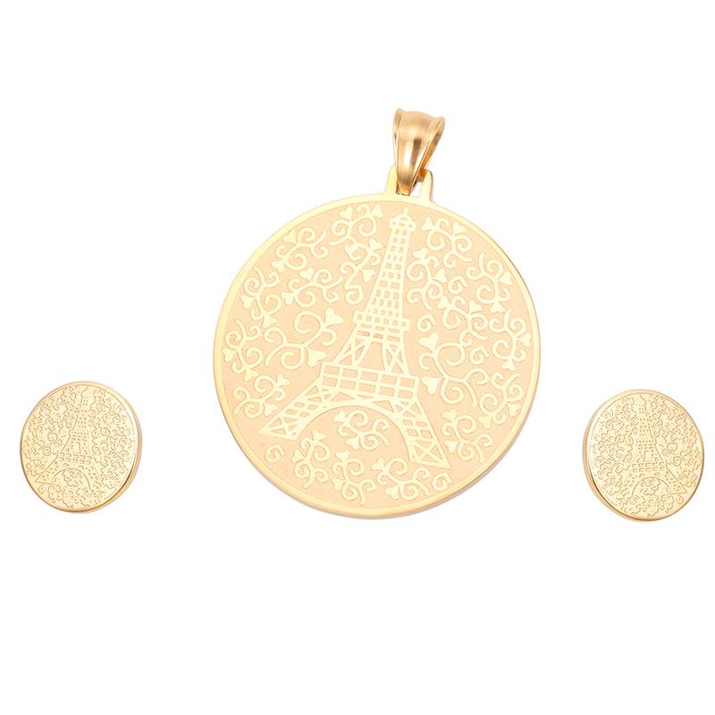 2015 Necklace and Earring Set Designs 18K Gold Plated Jewelry Wholesale
