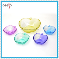 Sprayed Colored Glass Apple Shaped Bowl Mixing Glass Bowl Set