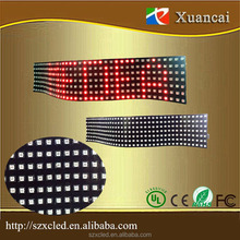 Different color customize size and pixel pitch communication mode scrolling message led programmable flexible billboard factory