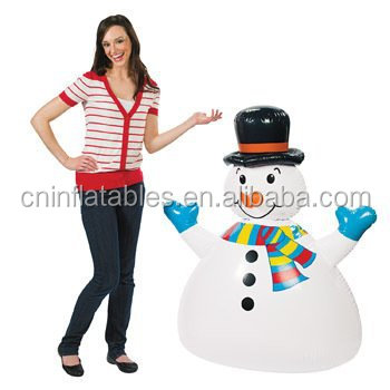 DELUXE Inflatable Jumbo Happy Fun Snowman 52in Tall - 38in Wide