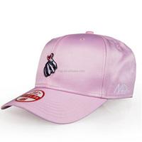 2017 New Style Silk Baseball Cap Custom Polyester Dad Hat And Cap Metal Buckle Cap