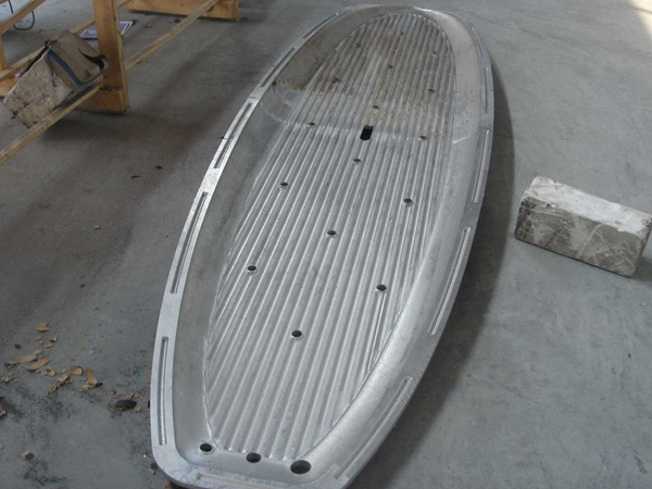 Single kayak aluminium rotational mould and plastic rotational moulding