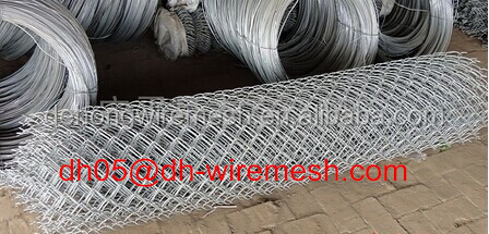 Chain Link Mesh Type and diamond Hole Shape sports fence chain link wire netting( factory)