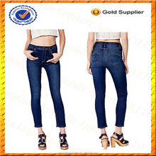 Custom 100% Cotton Skinny Jean for Women/Fashion Lady Jean Pants/Pencil Cut Jeans