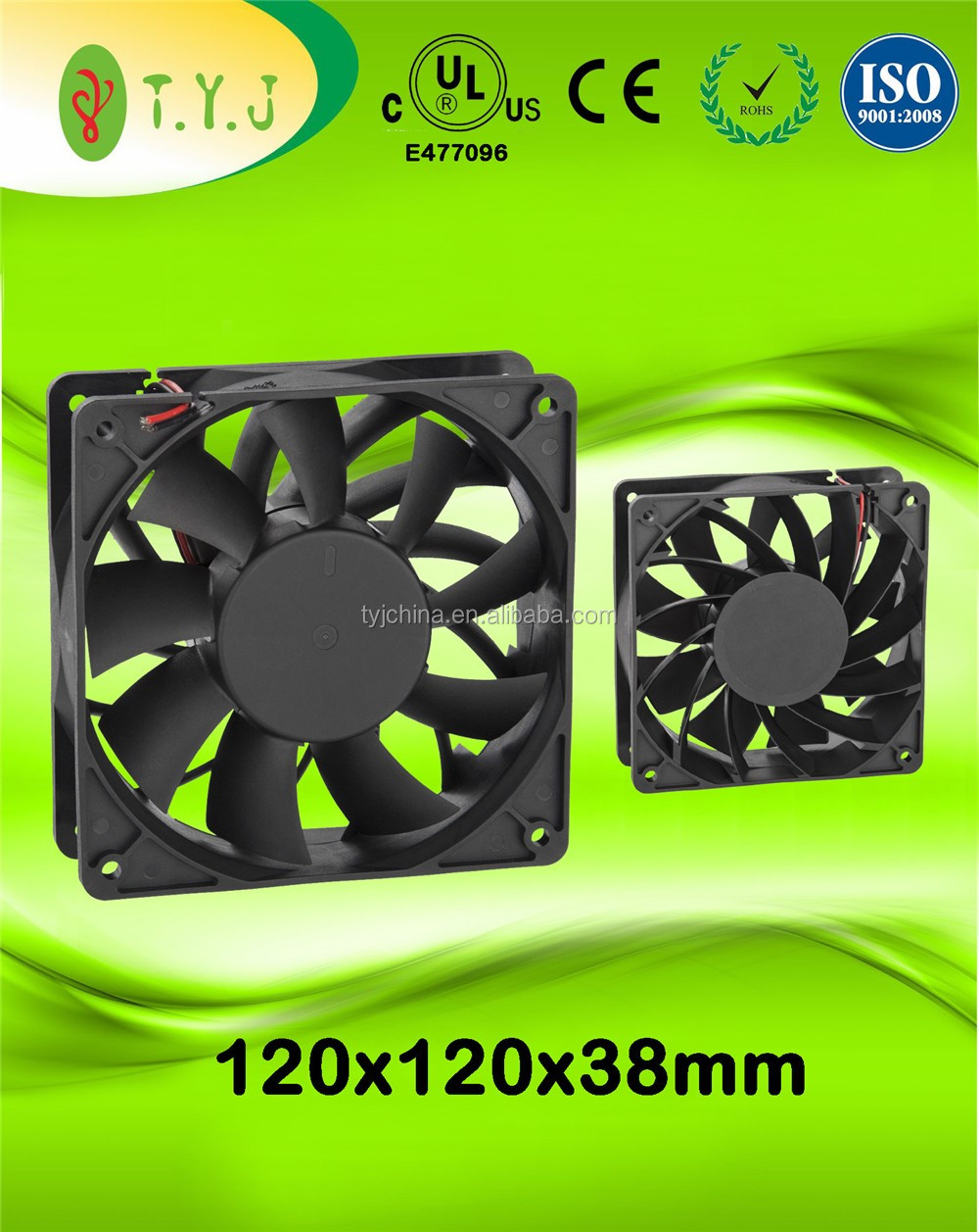 24v SUPER HIGH air flow and pressure 120x120x38mm dc cooling fan (Model C)