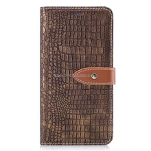 luxury crocodile embossed leather phone case unbreakable card slot flip cellphone cover
