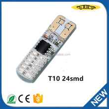 TOP quality LED light bulb T10 24 SMD for car auto accessory with high quality