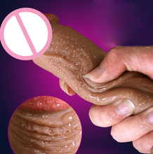 Eco-Friendly PVC Material Super Realistic Soft Silicone Dildo 100% waterproof Sex toy Dildo for woman