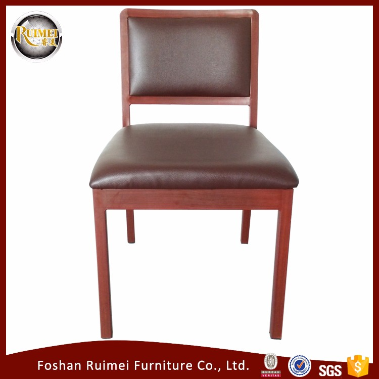 High quality square back steel frame hotel restaurant chair